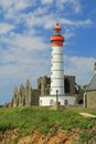Lighthouse saint mathieu brittany france the of finistere Stock Photos