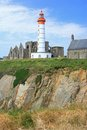 Lighthouse saint mathieu france the of finistere brittany Royalty Free Stock Image