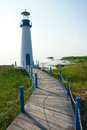 Lighthouse the scenery of a on shoreside Royalty Free Stock Photography