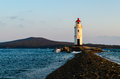 Lighthouse by sea. Vladivostok Royalty Free Stock Photo