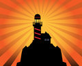 Lighthouse silhouette abstract on background color illustration Royalty Free Stock Photo