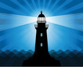 Lighthouse silhouette Royalty Free Stock Photo