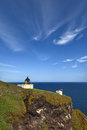Lighthouse at St Abbs Head, Berwickshire, Scotland Royalty Free Stock Photography