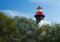 Lighthouse at St. Augustine Royalty Free Stock Photo