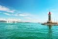 Lighthouse of St. Tropez. Mediterranean landscape. French rivierera