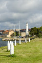 Lighthouse Stumholmen Karlskrona Royalty Free Stock Photo