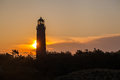 Lighthouse at sunrise Royalty Free Stock Photography