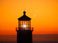 Lighthouse at Sunset Royalty Free Stock Image