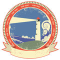 Lighthouse symbol.Vintage label Stock Photos