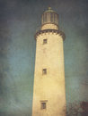 Lighthouse a tower in grunge style Royalty Free Stock Image