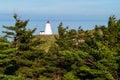 Lighthouse through the trees Royalty Free Stock Photo