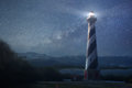 A lighthouse under night sky Royalty Free Stock Photo