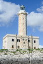 Lighthouse of Vieste on Puglia Royalty Free Stock Photo