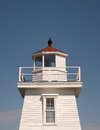 Lighthouse vintage detail and blue sky Royalty Free Stock Photo