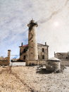 Lighthouse in vintage style