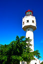 Lighthouse at weizhou island is one of the most beautiful islands in china Royalty Free Stock Photography