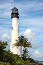 Lighthouse a white at key biscayne florida Royalty Free Stock Photo