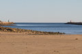 Lighthouses counterpart at the beach in portugal close to tavira Royalty Free Stock Photos