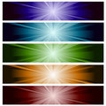 Lighting banner set Royalty Free Stock Image