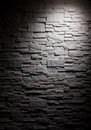 Lighting brick wall black white Stock Photos