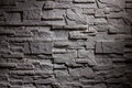 Lighting brickwall closeup view of dark texture Royalty Free Stock Photos