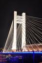 Lighting bridge at night Royalty Free Stock Photos