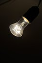 Lighting bulb in the dark Royalty Free Stock Images