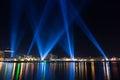 Lighting display Hobart Royalty Free Stock Photo