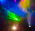 Lighting effects spotlights in the music and nightclub Royalty Free Stock Images