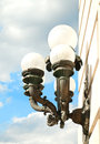 Lighting fixture outdoor decorative iron Royalty Free Stock Image
