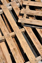 Lighting and shadow of wooden pallet Royalty Free Stock Photos
