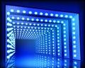 Lighting Tunnel. Vector Illust...