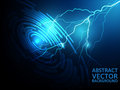 Lightning abstract vector blue background