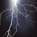 Lightning background realistic storm illustration Stock Photo