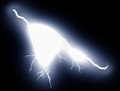 Lightning bolt at night Stock Image