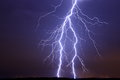 Lightning bolt strike close and intense Royalty Free Stock Photos
