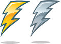 Lightning bolt symbol icon representing energy power or a Stock Photo