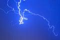 Lightning electricity sky night thunderstorm weather storm Royalty Free Stock Photo