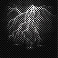 Lightning flash light thunder spark on transparent background.