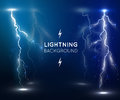 Lightning flash strike background Royalty Free Stock Photo