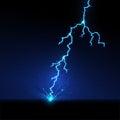 Lightning hit the ground. Vector illustration