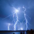 Lightning hits Stock Photography