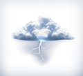 Lightning icon illustration on white background Royalty Free Stock Photography
