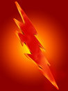 Lightning icon on orange background Royalty Free Stock Photo