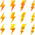 Lightning icons Royalty Free Stock Photo