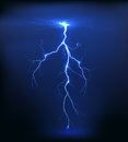 Lightning illustration on a blue background Stock Photos