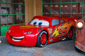 Lightning mcqueen the leading character from cars is is posing for pictures in disney s hollywood studios orlando florida Stock Image