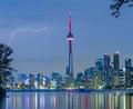 Lightning over  Toronto Downtown Skyline Royalty Free Stock Photo