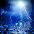 Lightning and ripple Royalty Free Stock Photos