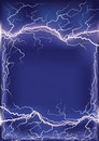 Lightning strike on dark blue Royalty Free Stock Photo